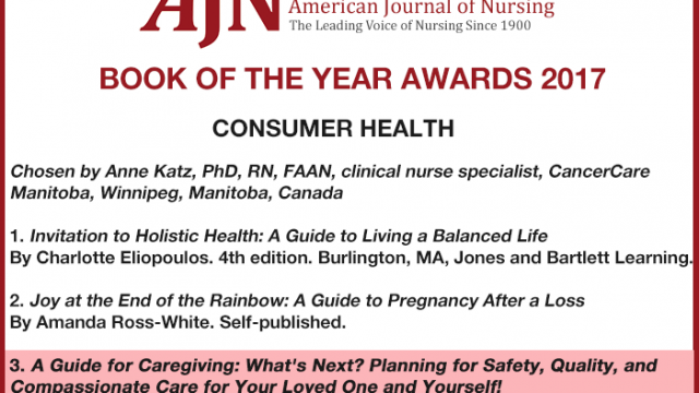2017 Book of the Year Awards – A Guide for Caregiving: What's Next?