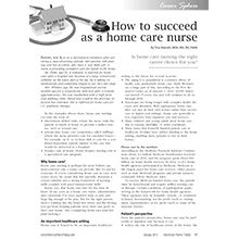 How To Succeed As A Home Care Nurse