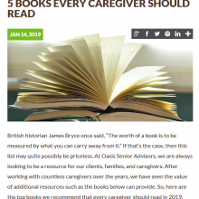5 books every caregiver should read