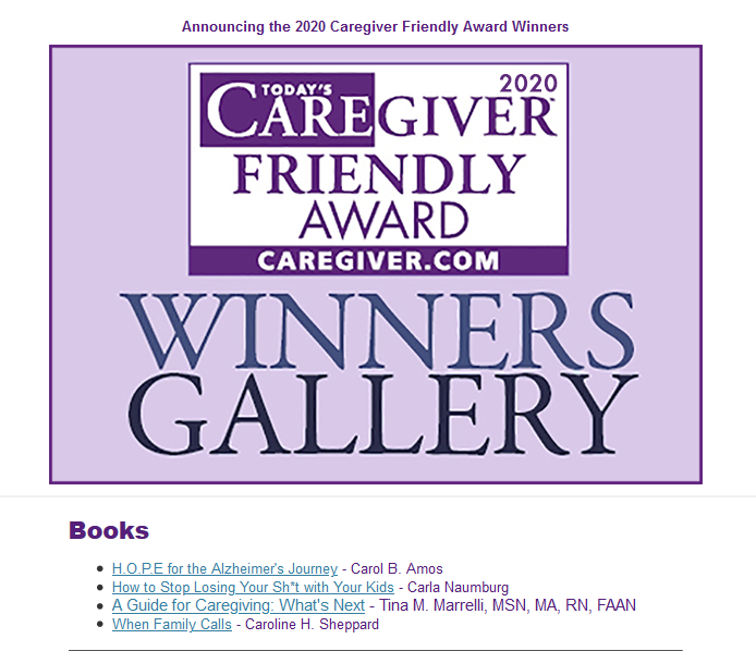 Today's Caregiver 2020 Awards