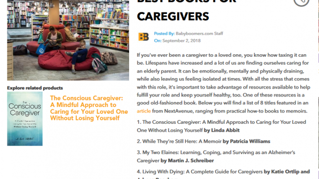 Best Books for Caregivers List
