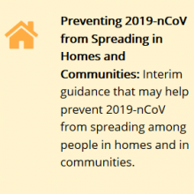 Interim Guidance for Implementing Home Care of People Not Requiring Hospitalization for 2019 Novel Coronavirus